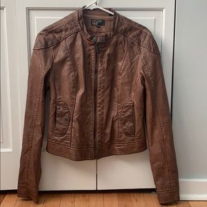 William Rast Brown Leather Jacket